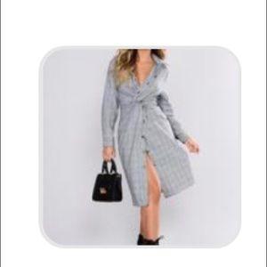 Fashion Nova plaid black n white dress. Never worn